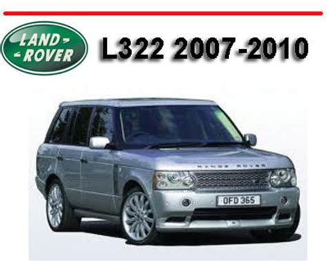 range rover l322 2007 2010 workshop repair service manual downloa