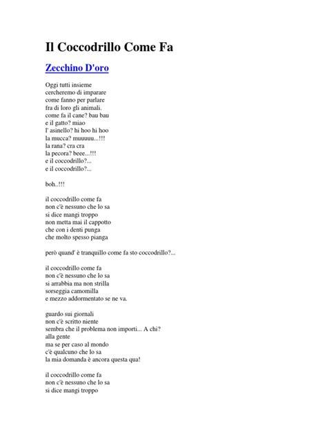 Il Coccodrillo Come Fa | Italian Music | Vocal Musical