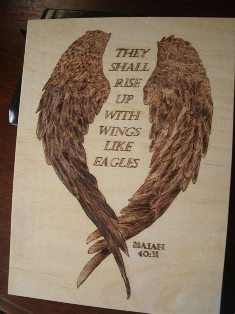 eagle tattoo quotes inspirational wood burned scripture they shall rise up