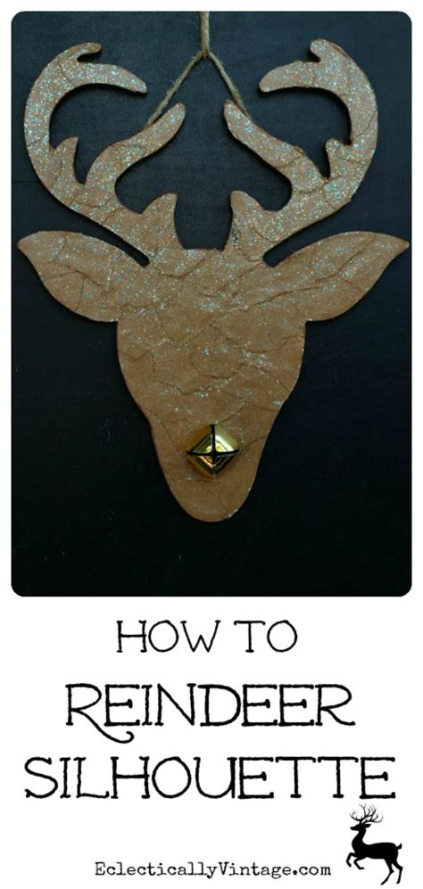 How To Make Paper Reindeer - how to make a reindeer silhouette eclectically vintage
