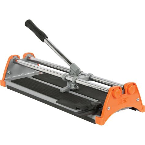 hdx 14 inch manual tile cutter with 7 8 inch cutting wheel