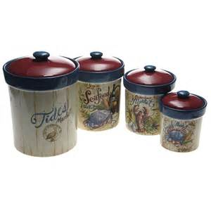 Ceramic Canisters For The Kitchen certified international seaside market 4 piece canister
