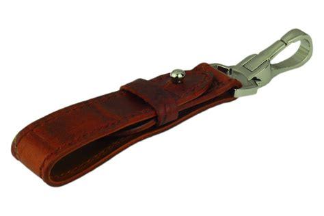 mahogany leather belt key holder crocodile grain leather