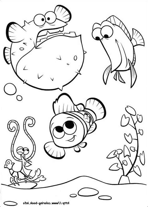coloring pages nemo finding nemo coloring page and disney coloring page