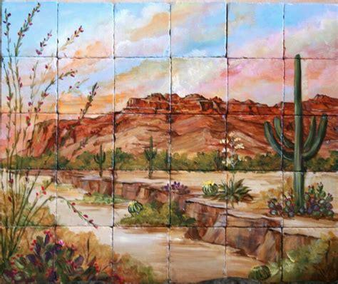 Southwestern Wall Murals desert southwest tile murals