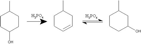 hydration of cyclohexene lab new results for the dehydration of methylcyclohexanols