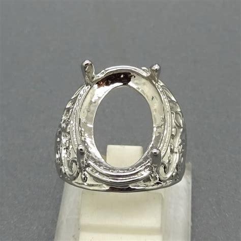 Dijamin Senter Batu Cincin Model Pulpen Silver cincin rhodium cangkang warna silver pusaka dunia