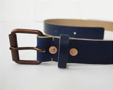 Handmade Mens Leather Belts - yves klein blue leather belt s leather belt basader