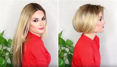 how to fix medium bob hair how to make long hair look short