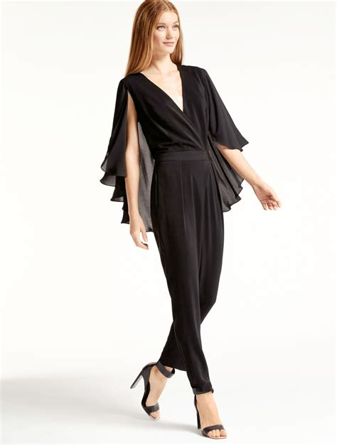 Mini Flowy Jumpsuit flowy sleeve jumpsuit in black lyst