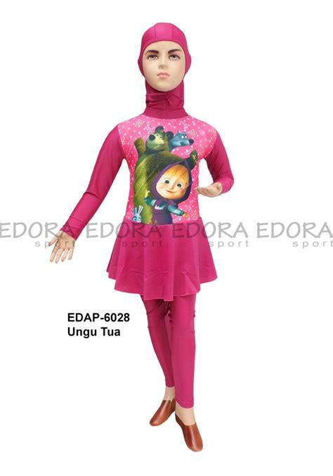 Baju Renang Anak Tk Model Yukenzi Karakter baju renang anak muslimah karakter edap 6027 distributor
