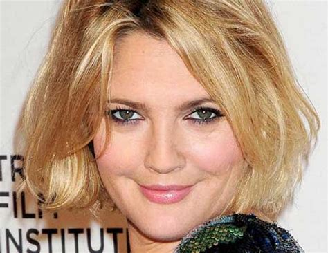 bob hairstyles drew barrymore bob cuts for round faces short hairstyles 2017 2018