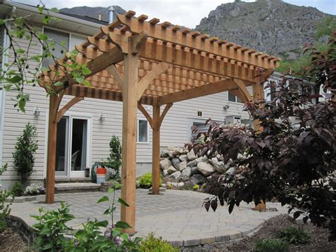 Adding Shade With A Natural Finish Timber Frame Pergola Timber Frame Pergola Kits