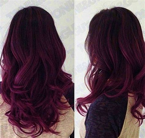 black to purple ombre hair color archives vpfashion