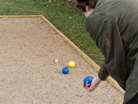 backyard ball build an outdoor bocce court hgtv