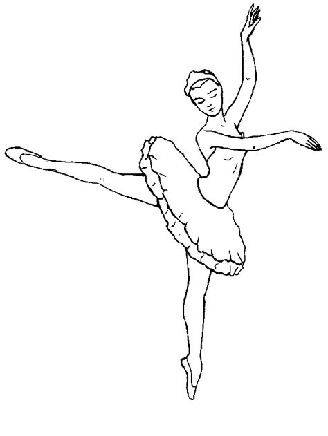 Free Ballet Coloring Pages ballet coloring pages coloringpages1001