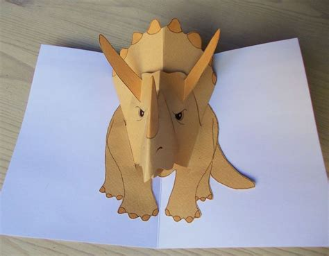triceratops pop up dinosaur iha ite pop up