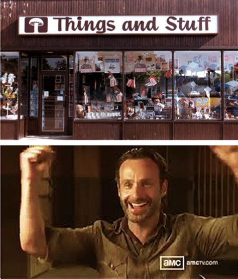 Stuff And Things Meme - stuff and things 2 the walking dead know your meme