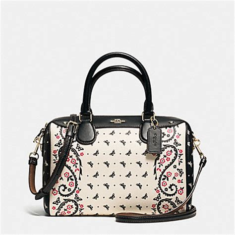 Coach Mini F59810 Black Butterfly coach f59328 mini satchel in butterfly bandana print coated canvas imitation gold
