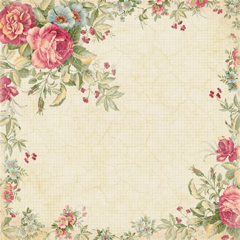 printable paper roses 11 best photos of freebie shabby chic scrapbook paper