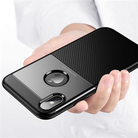 bakeey protective for iphone xs max armor anti fingerprint hybrid pc tpu back cover