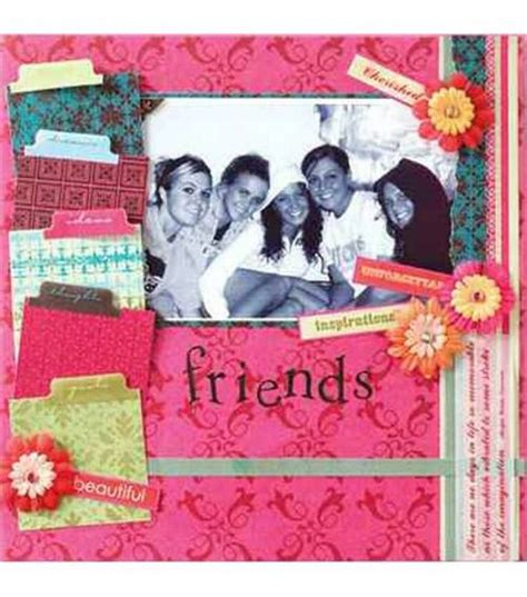 scrapbook layout for friends 130 best friendship scrapbooking images on pinterest