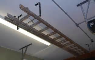 ceiling ladder storage ladder hooks for ceiling extension ladder hanging ideas