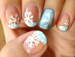 the coolest snowflake nail art to sport all winter long
