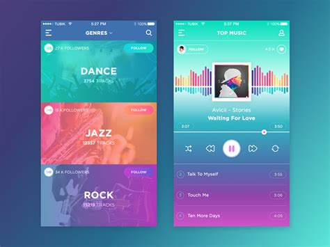 application design trends 2015 25 ui designs which follow the latest design trends