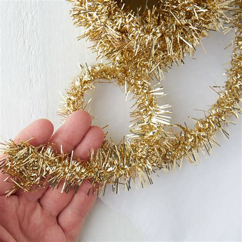 metallic gold tinsel garland christmas garlands