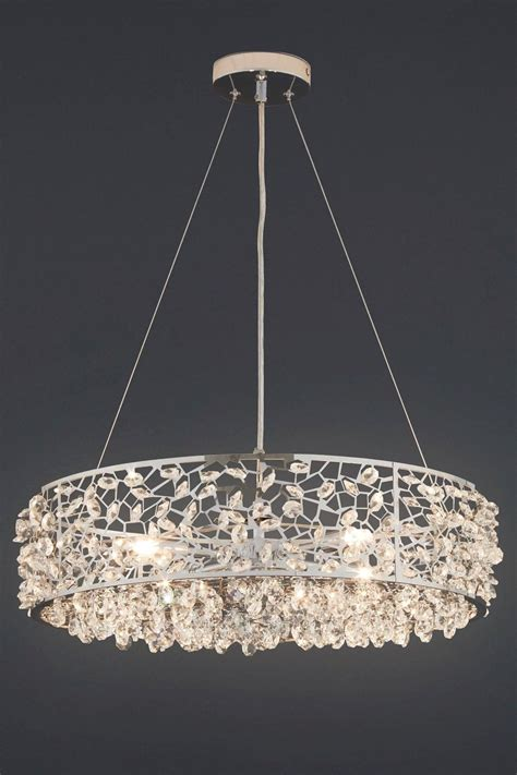 Chandelier Next Next Ritz 4 Light Beaded Pendant Glass Ceiling Lighting Chandelier New 163 119 99
