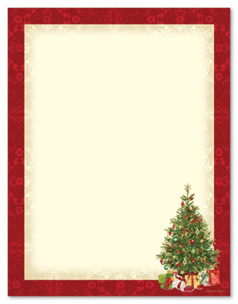 printable christmas note paper free lacy tree stationery letterhead christmas stationery x