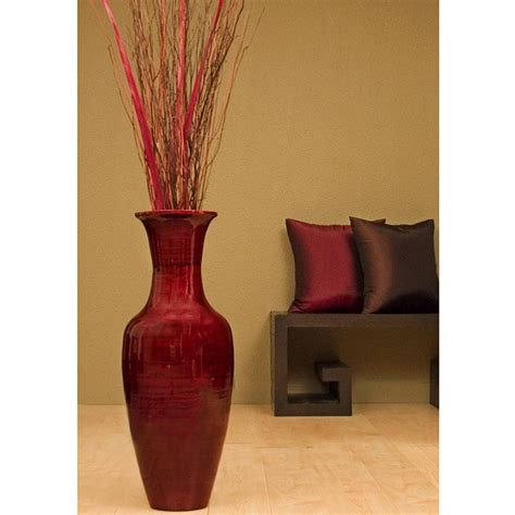 28 inch bamboo floor vase floral arrangement 10797343
