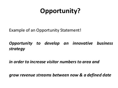 opportunity statement template 071512 innovation 4 tourism