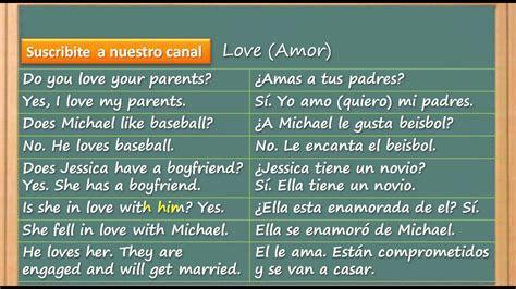 lista de palabras como se escribe c 243 mo aprender ingl 233 s r 225 pido y f 225 cil amor y querer