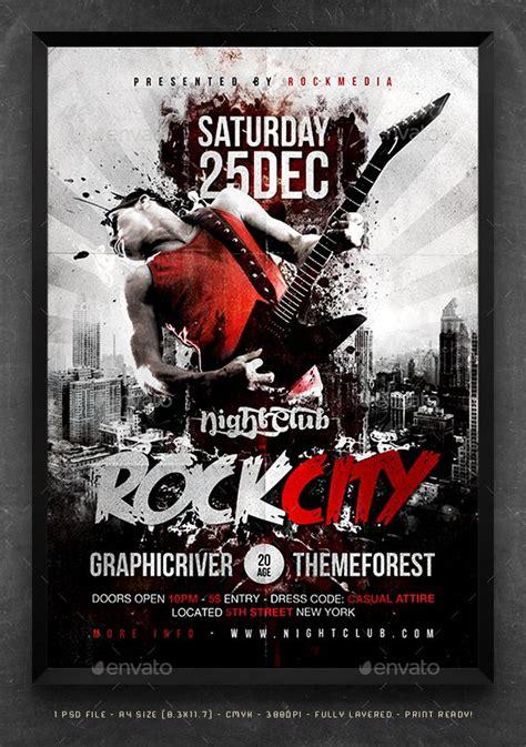 concert poster template rock city concert flyer poster concert flyer flyer