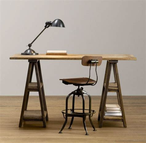 Diy Trestle Desk How To Make A Diy Vintage Inspired Sawhorse Trestle Desk Made Diy Crafts For