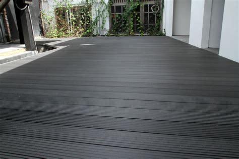 Wpc Decking Deck Kayu Komposit decking outdoor lantai kayu komposit plastic rustic brown