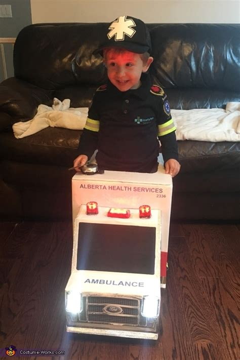 toddler paramedic  ambulance costume photo