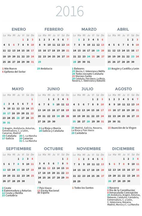 Calendario 2016 Panama Calendario Laboral 2016 Econom 237 A Cadena Ser