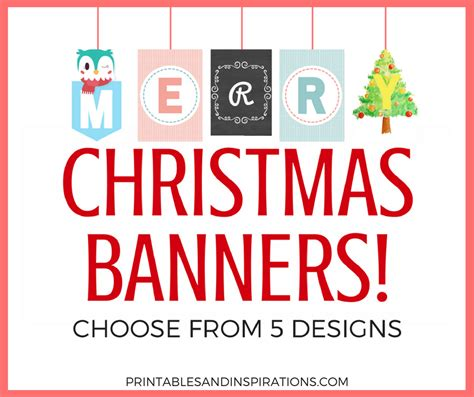 free printable decorations free printable merry banners printables and
