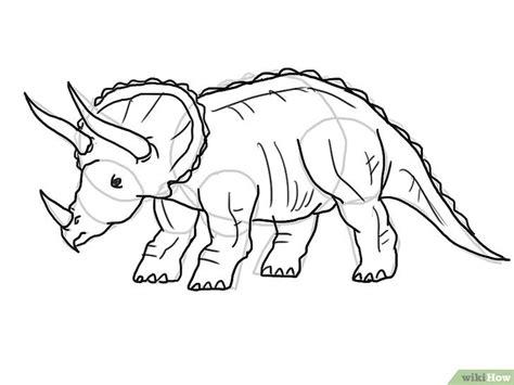 Kaos 3d Dinosaurus T Rex Hitam 5 cara untuk menggambar dinosaurus wikihow