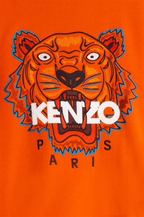 Kenzo Tiger lyst kenzo iconic tiger sweater in orange for