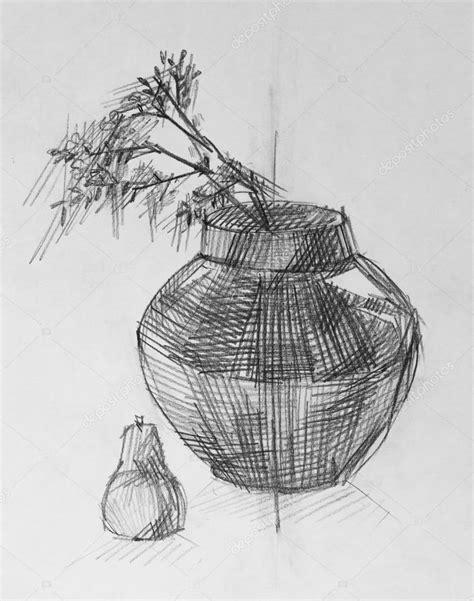 imagenes de jarrones a lapiz jarr 243 n y flores dibujo a l 225 piz foto de stock