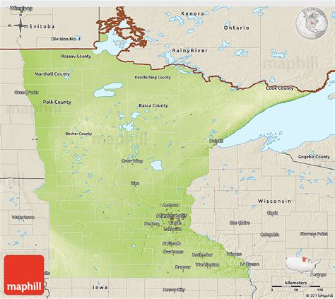 physical map of minnesota physical 3d map of minnesota shaded relief outside