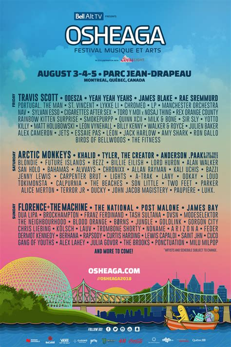 is beautiful reveals 2018 lineup get some magazine osheaga 2018 travis arctic monkeys florence the