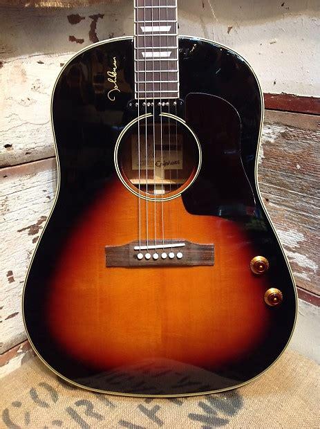 Epiphone EJ-160e John Lennon Vintage Cherry Sunburst   Reverb J 160e Epiphone