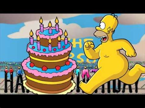 Imagenes De Happy Birthday De Los Simpson | los simpson quot homero quot happy 161 birthday 161 feliz cumplea 241 os