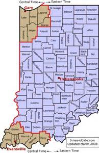 Indiana Time Zones Map by Indiana S Time Zones And Daylight Saving Time Dst