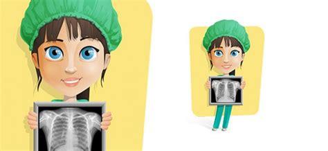 imagenes animadas rayos x enfermera de la celebraci 243 n de un vector de caracteres de